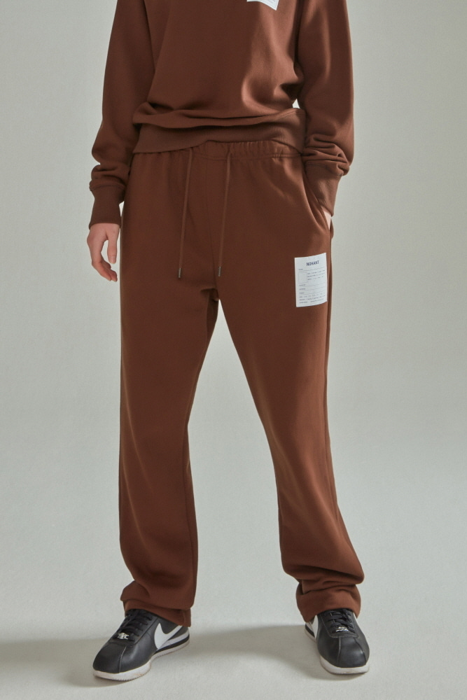NAME LABEL SWEATPANTS BROWN