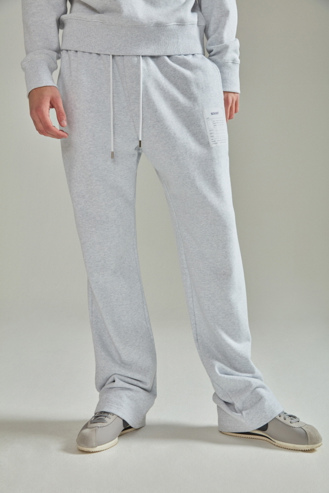 NAME LABEL SWEATPANTS LIGHT GRAY