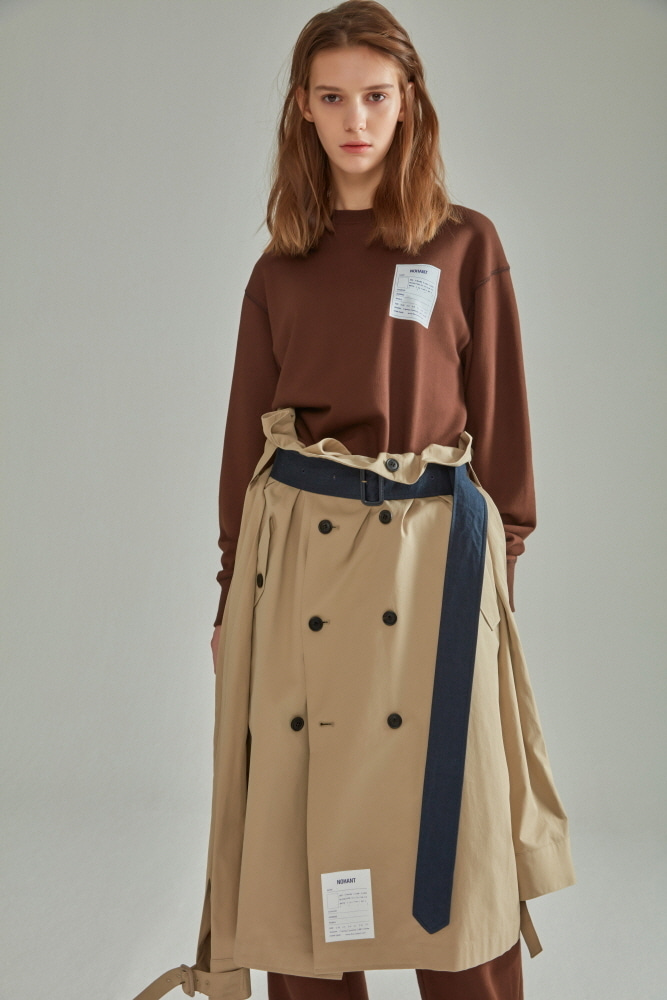 TRENCH LAB SKIRT BEIGE