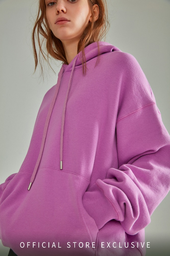 OVERSIZED NAME LABEL HOODIE PURPLE