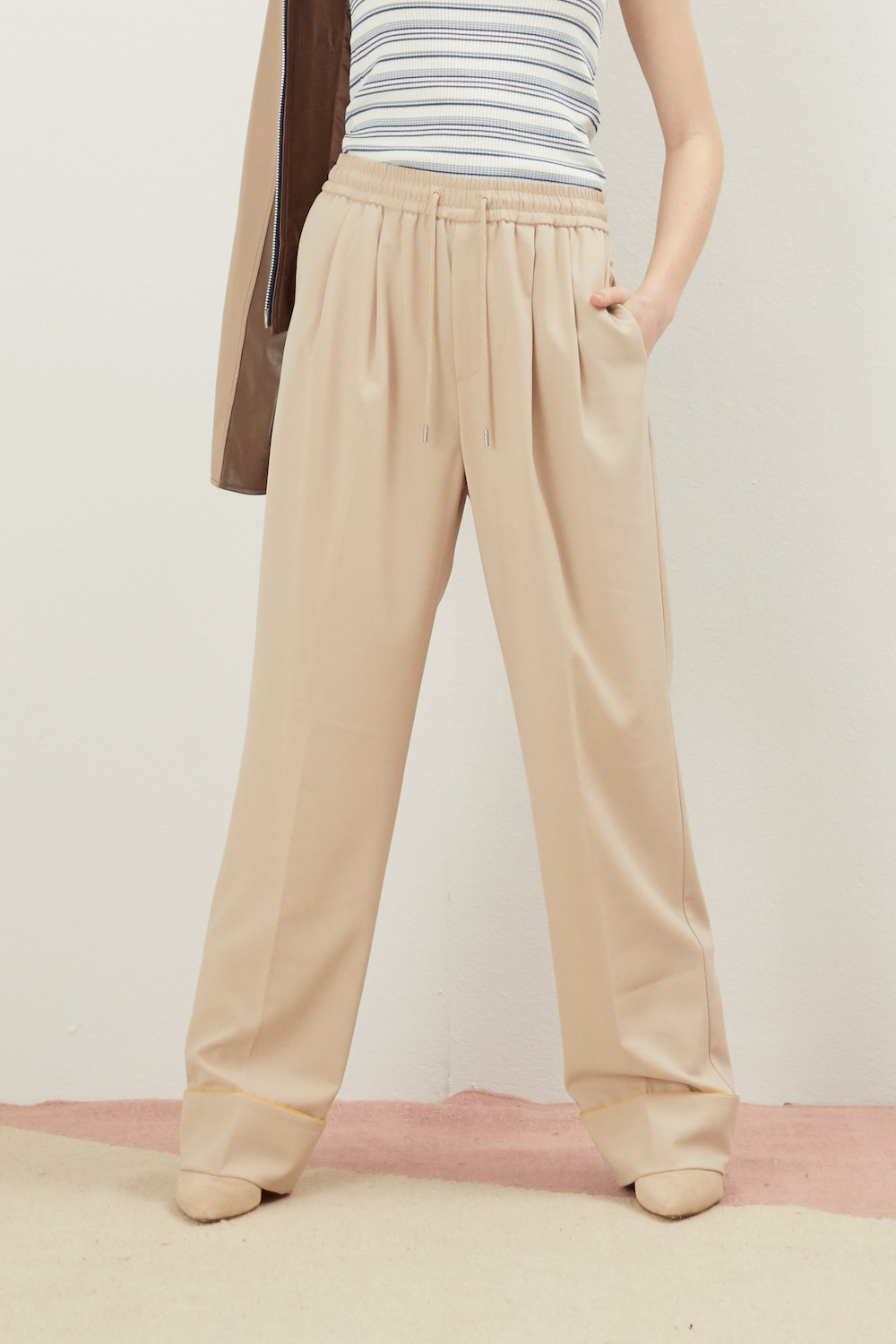 PAJAMA WIDE PANTS BEIGE