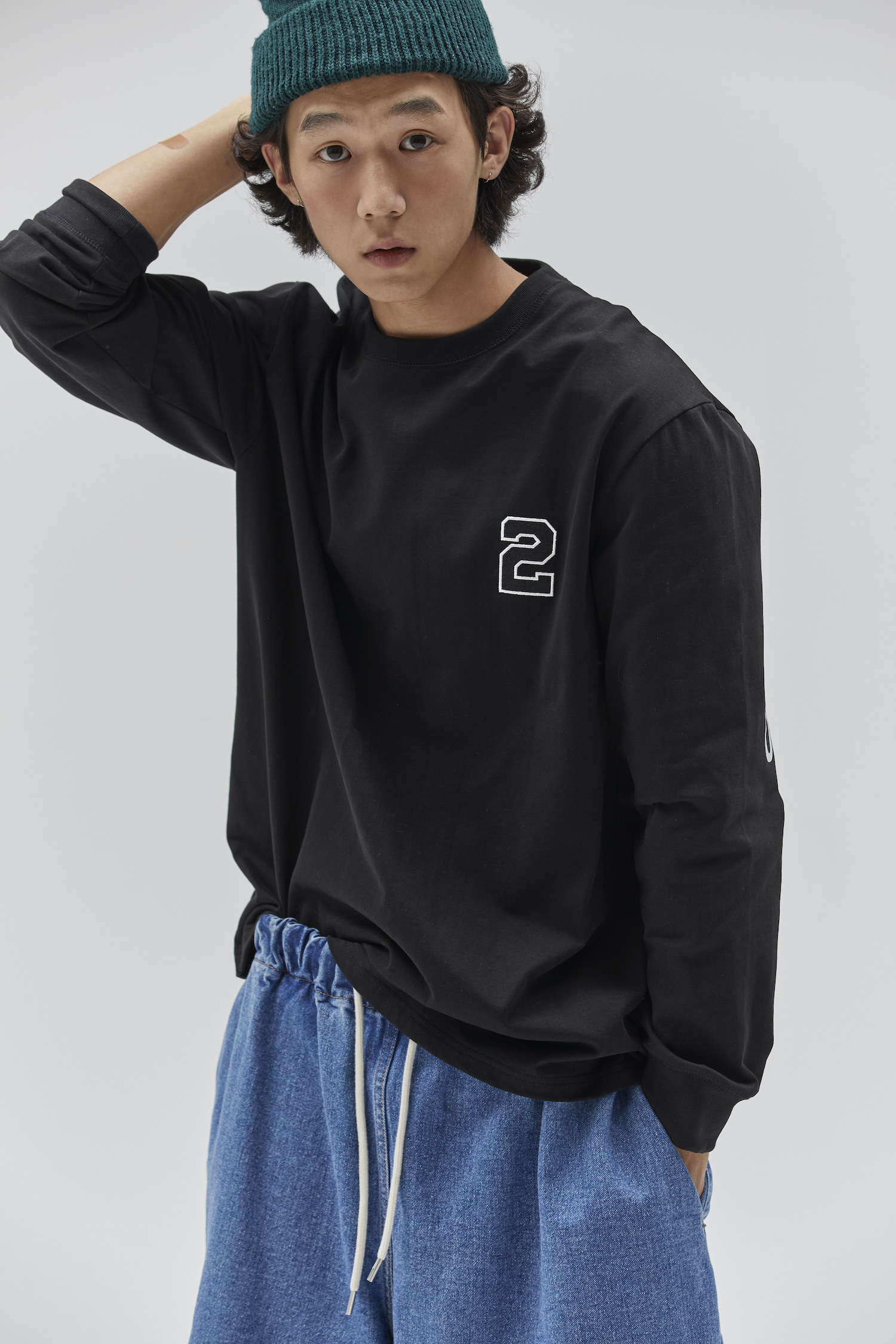 2020 LONG SLEEVE T SHIRT BLACK