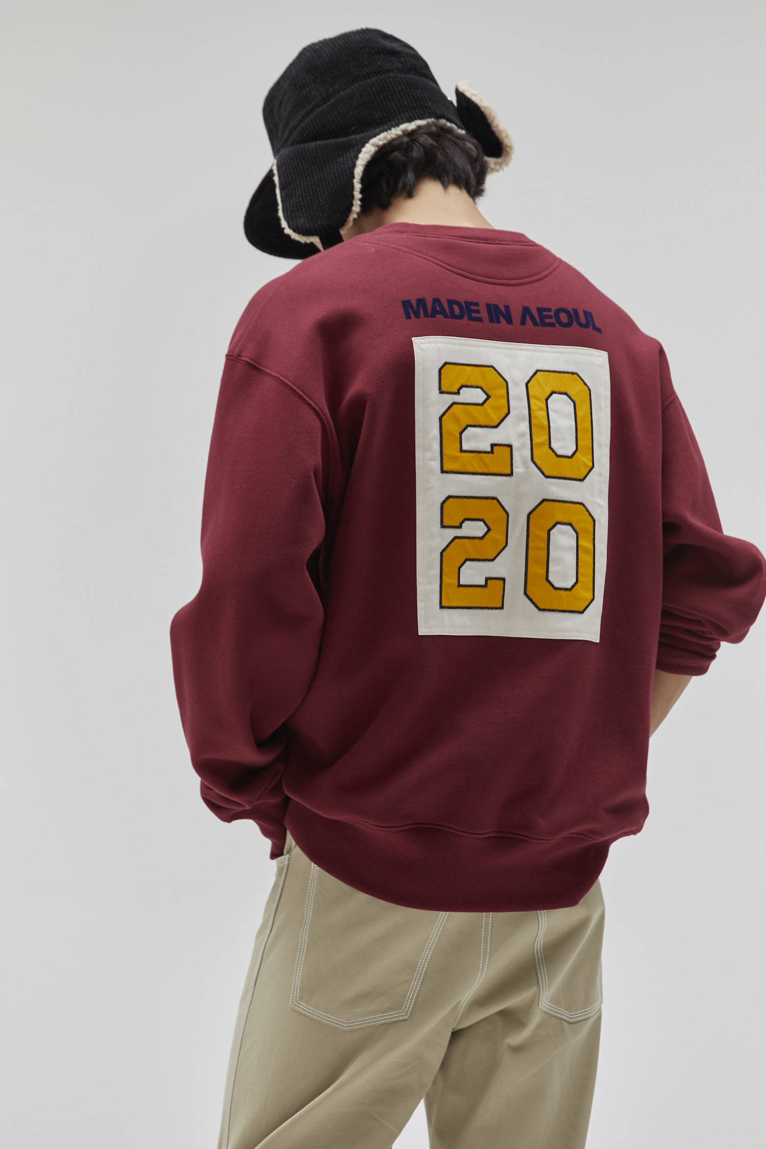 MADE IN SEOUL 2020 SWEATSHIRT BURGUNDY